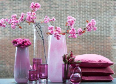 Dutz Glas Vase rosa