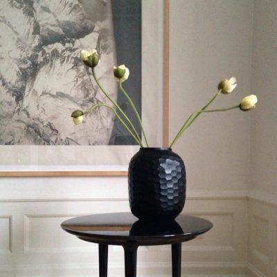 Guax Vase schwarz