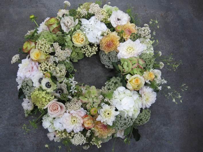 Blumen für Trauer und Begräbnisse
