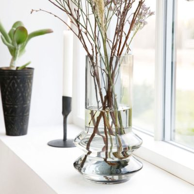 Design Glas Vase Innenraum